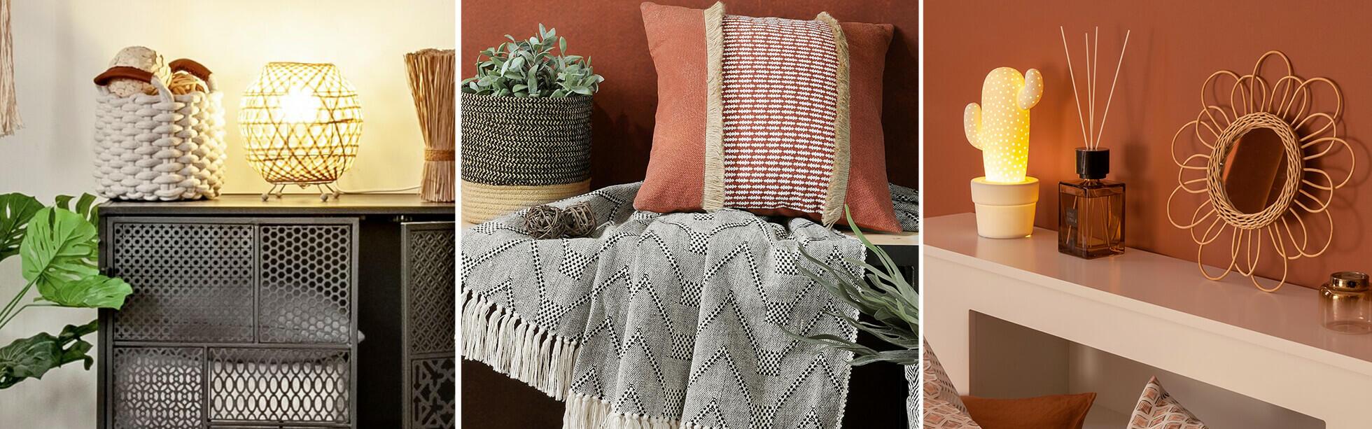 objetos y textiles decorativos