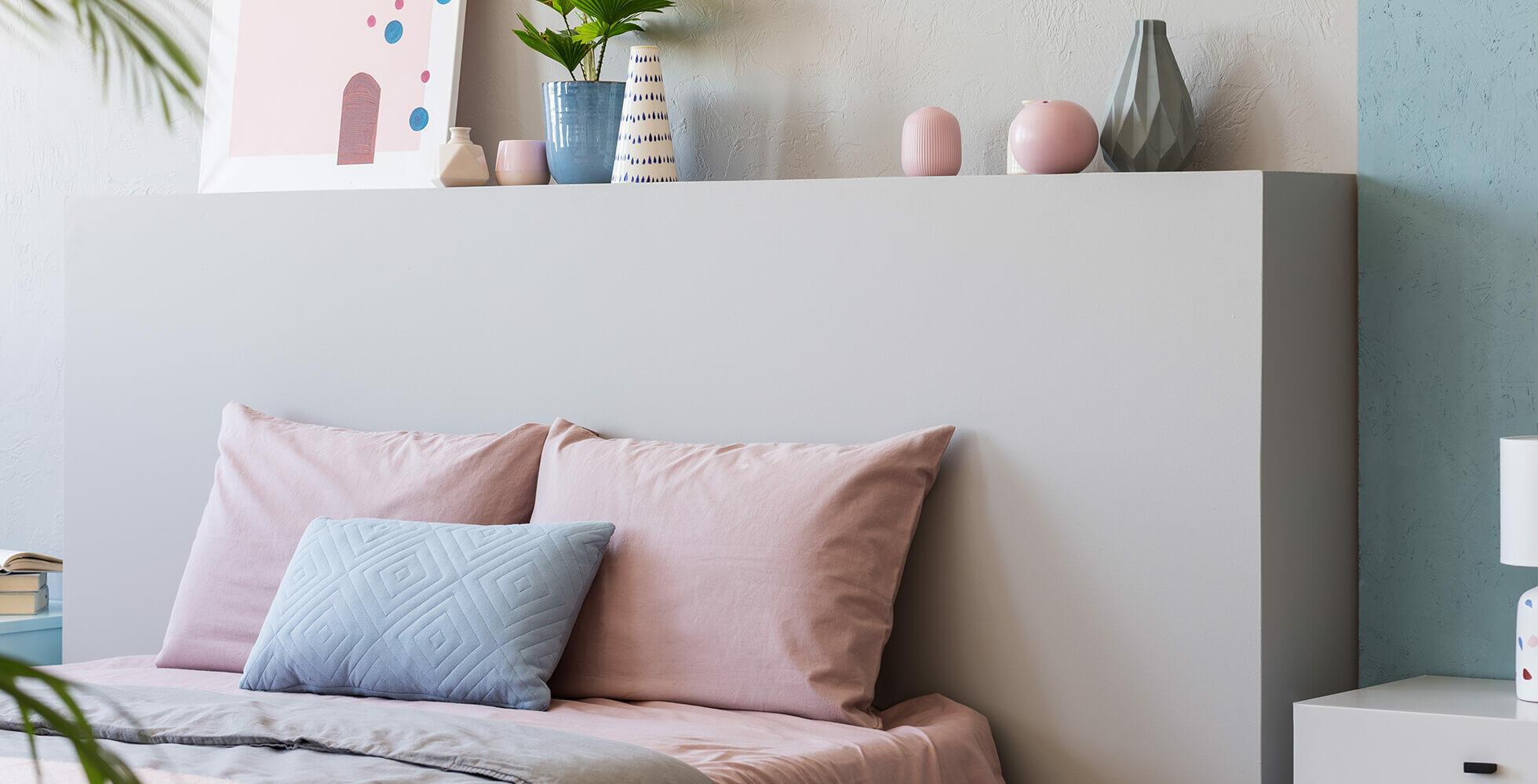 dormitorio con colores claros