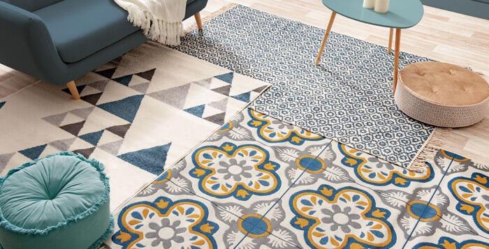 alfombra de salón fácil de limpiar