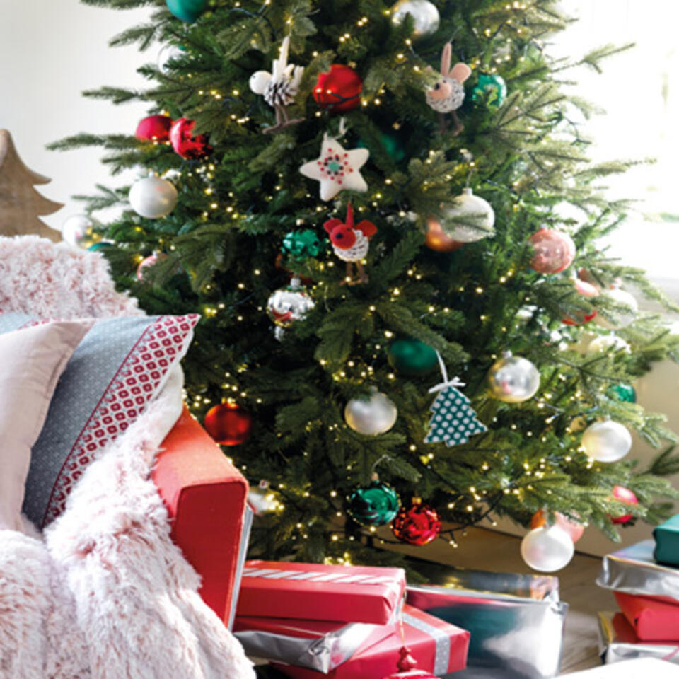 Árbol de Navidad con luces integradas