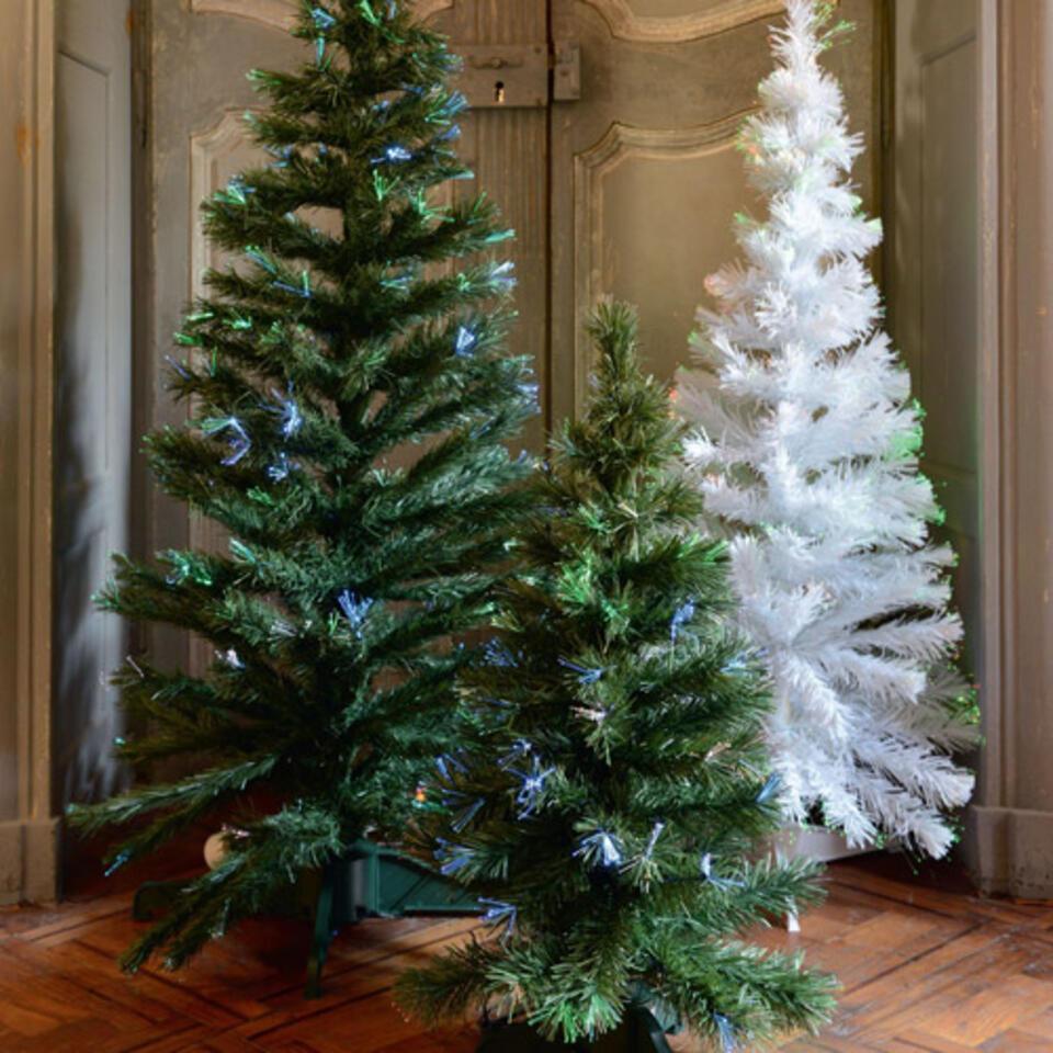 Árbol de Navidad con luces multicolores integradas