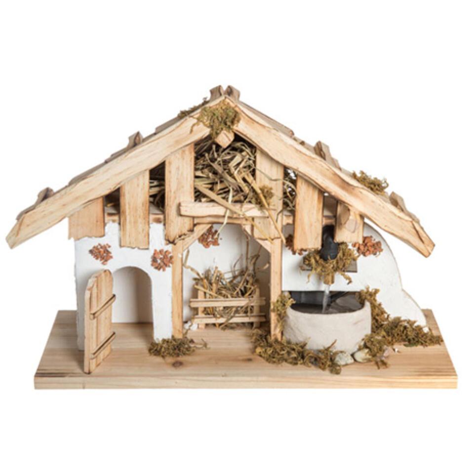 Pesebre de Navidad de madera