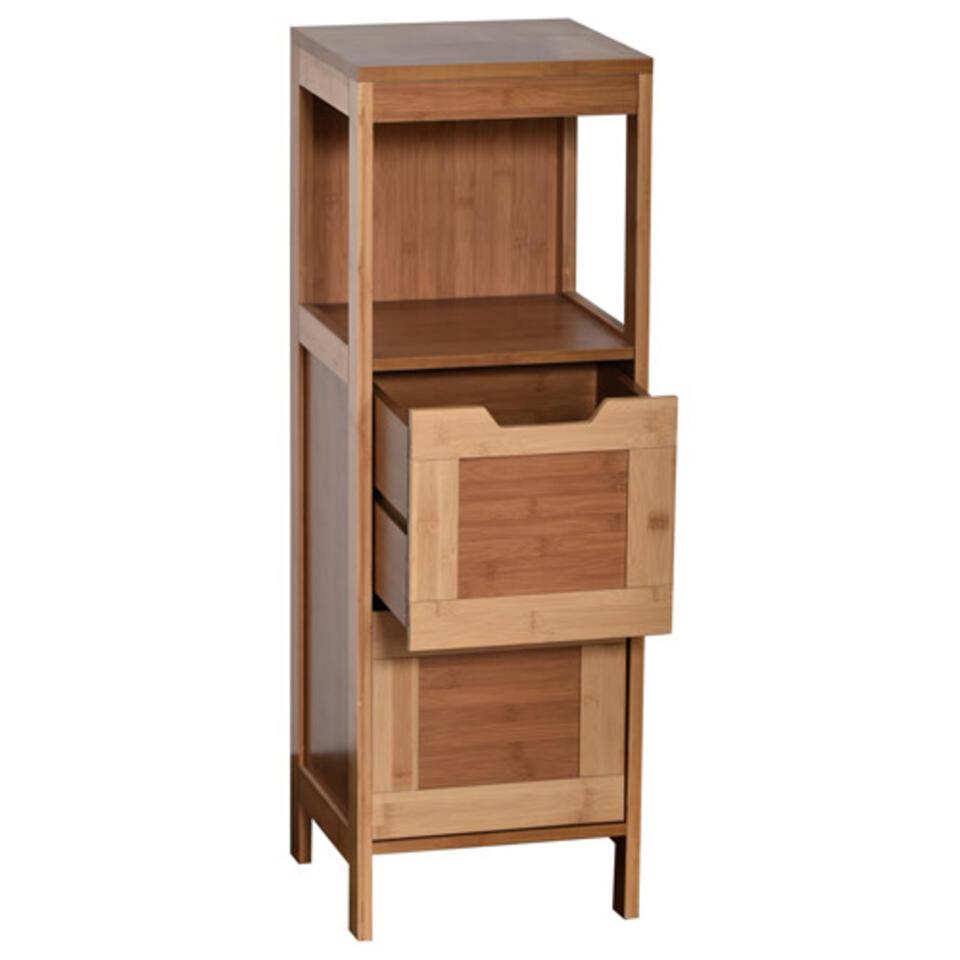 mueble de baño en madera para ordenar