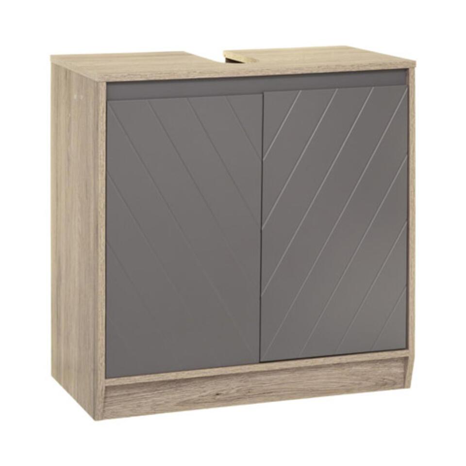 meuble bajo lavabo gris