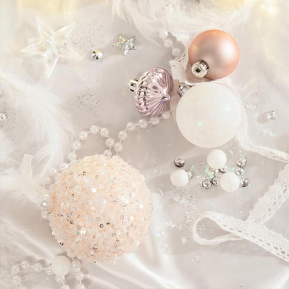 bola rosa pastel para arbol de Navidad a la moda