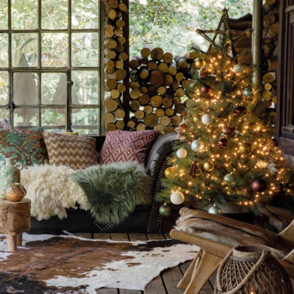 arbol de navidad estilo natural
