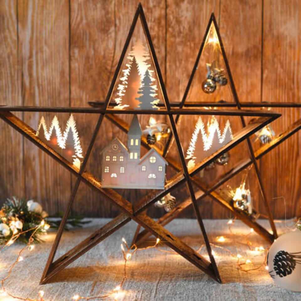 estrella de navidad luminosa