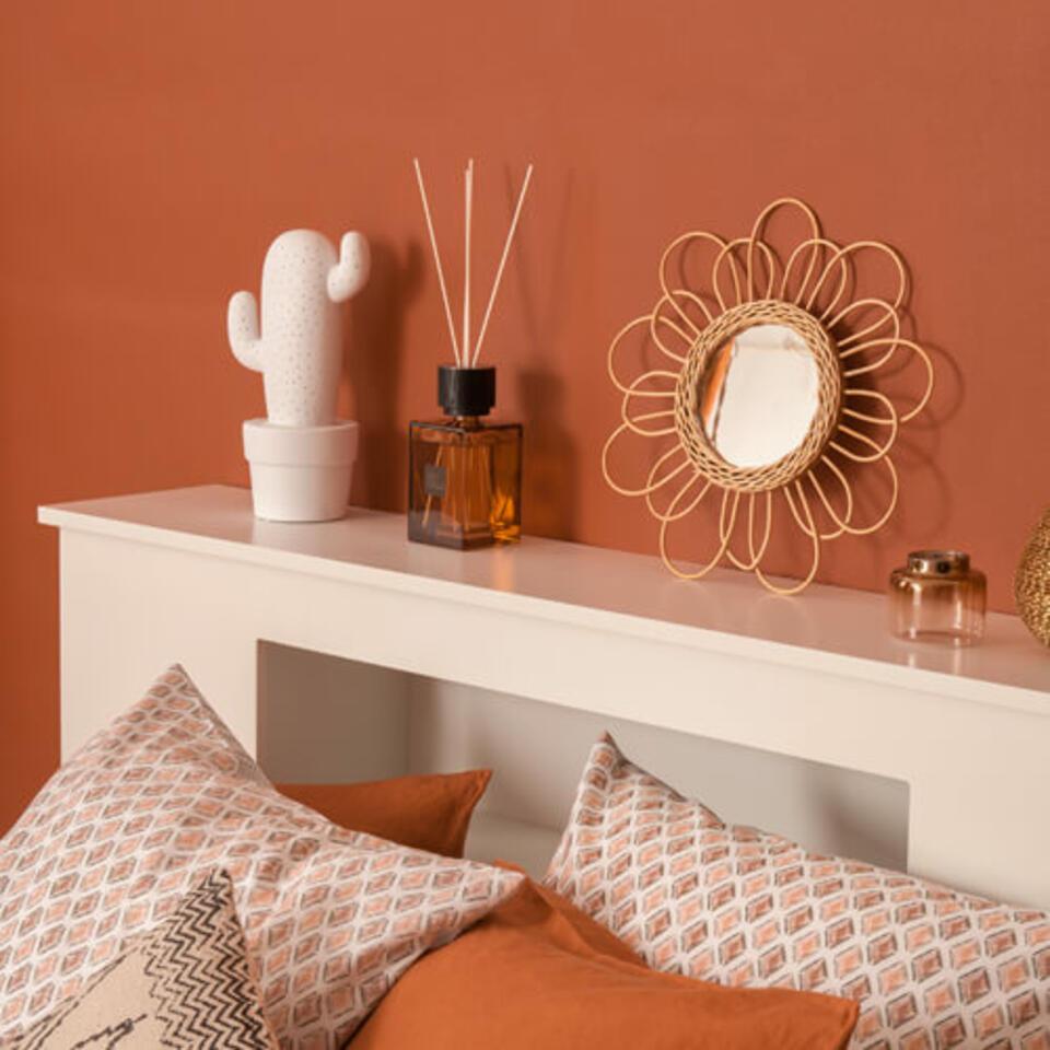 dormitorio color terracota