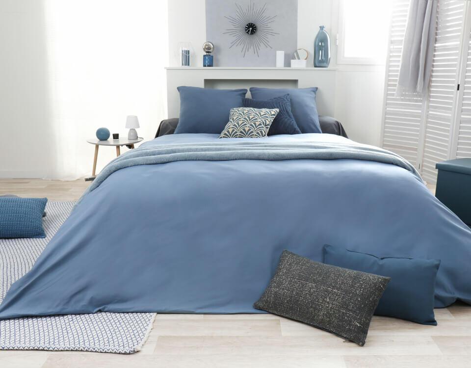 dormitorio tonos de azul