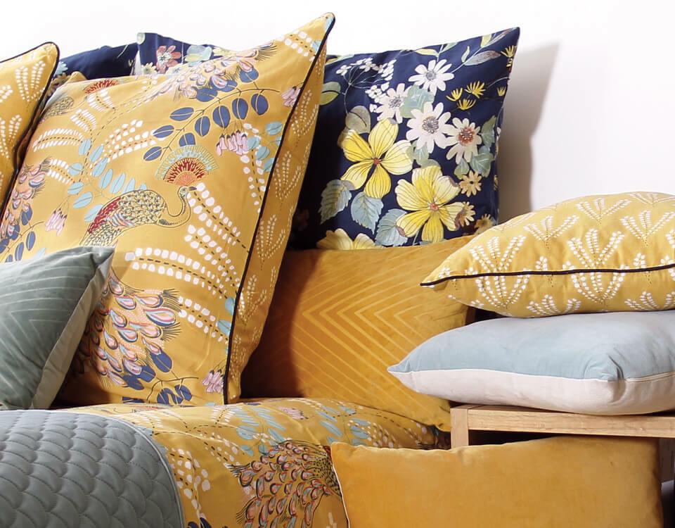 chambre bleu et jaune