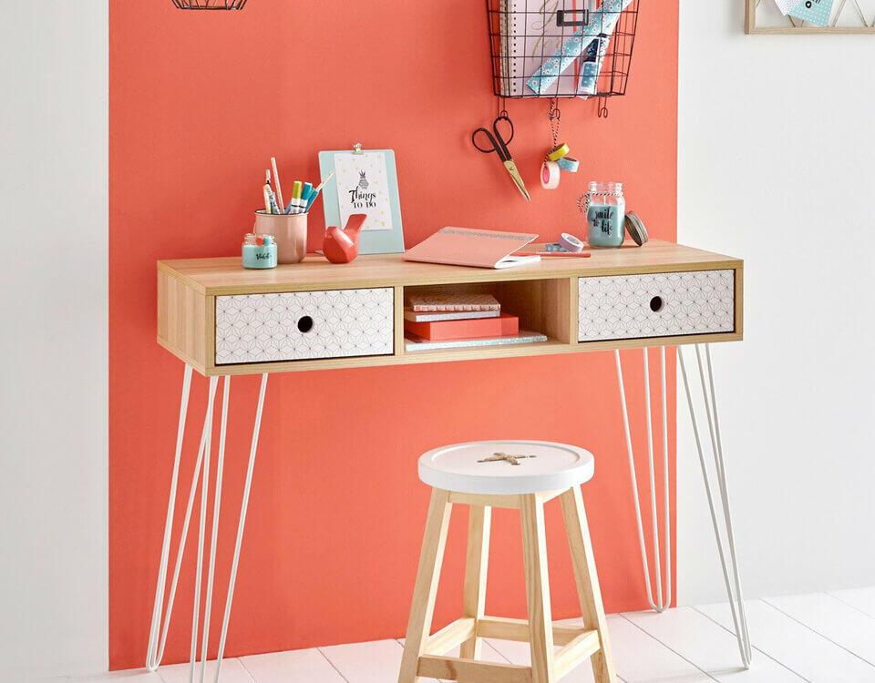 escritorio juvenil estilo nórdico
