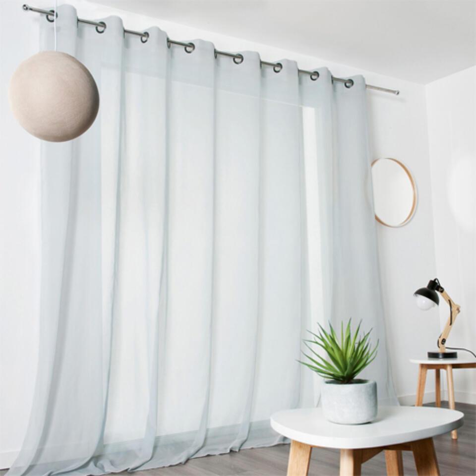 Visillo ventanal gris