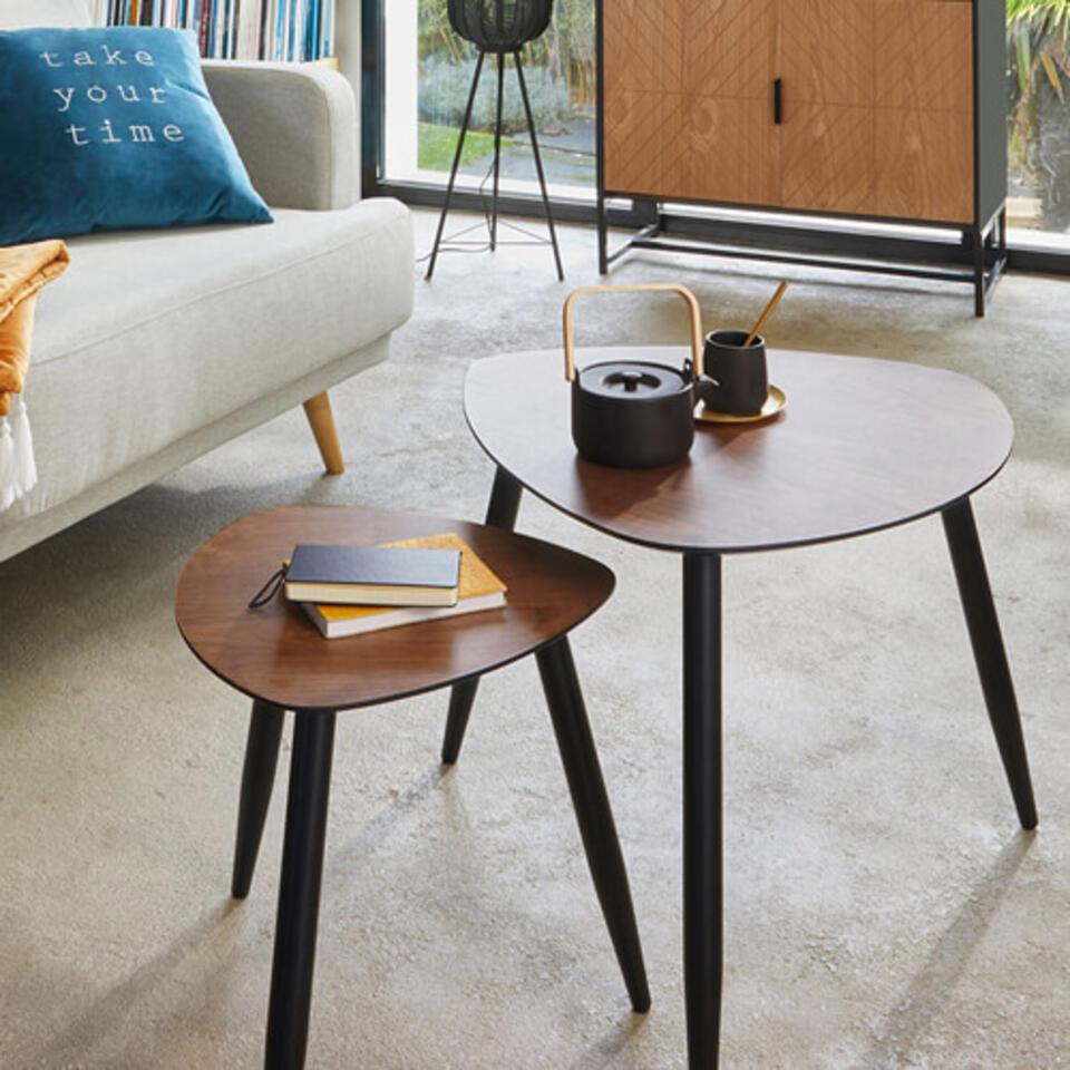 Mesa de centro de madera estilo vintage