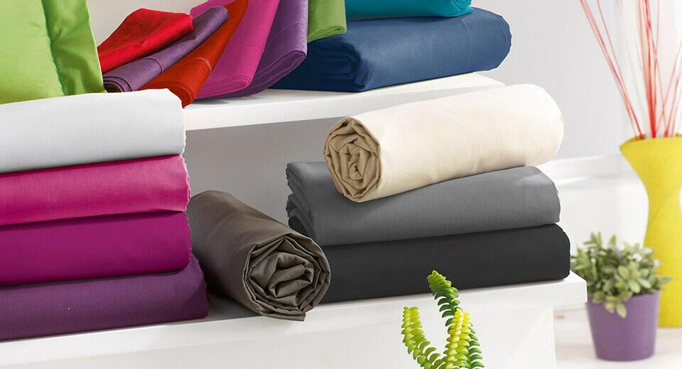 sábanas encimeras de colores