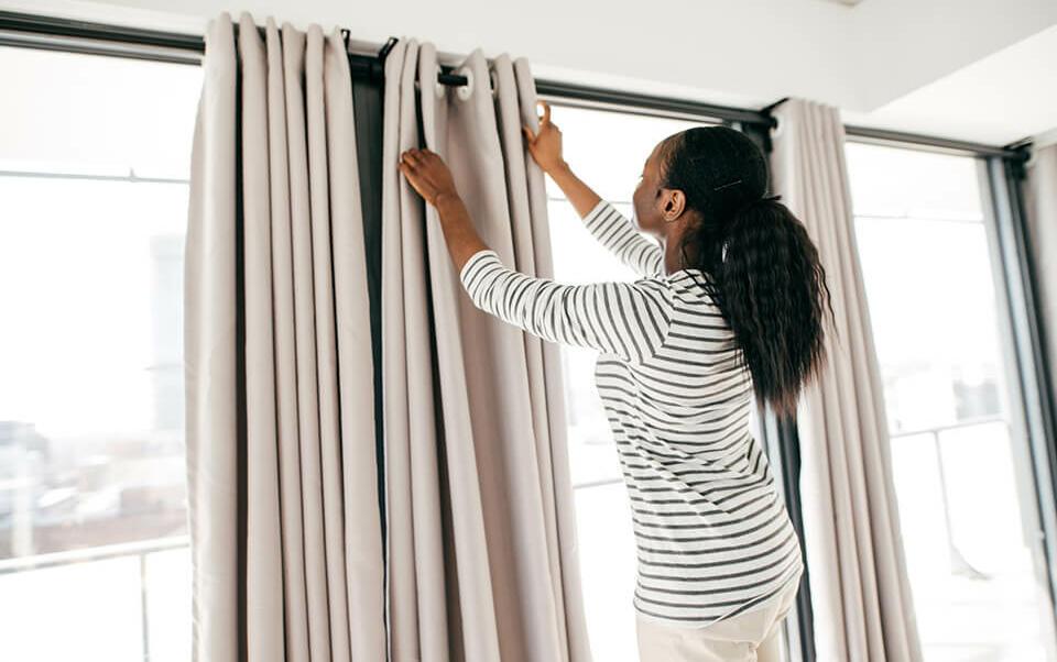 colocar sus cortinas