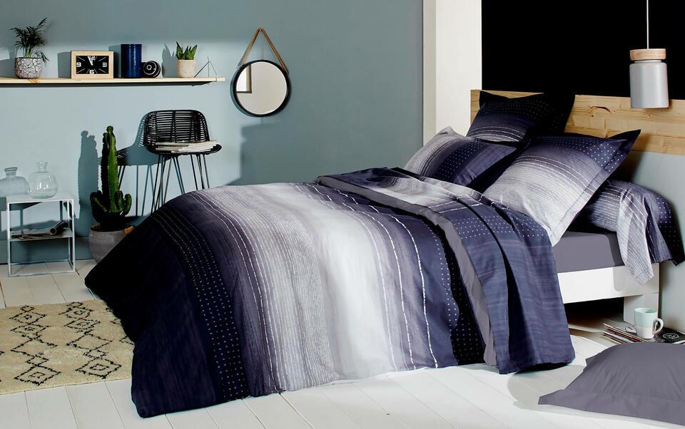 dormitorio decoración azul