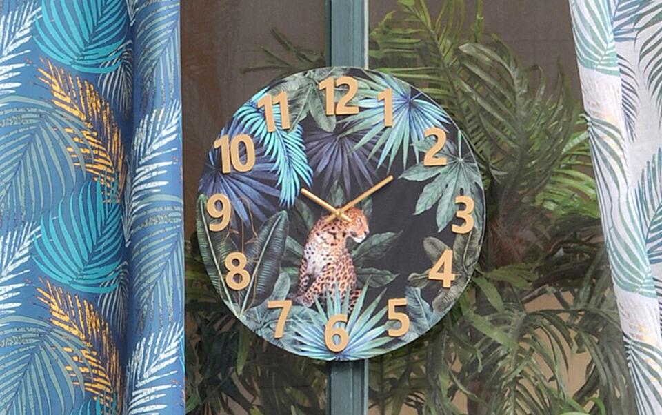 reloj motivos tropicales