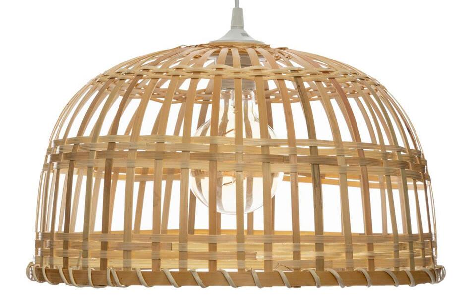lámpara de techo en bambú