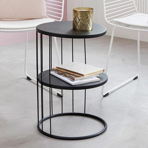 mesa auxiliar negra contemporánea