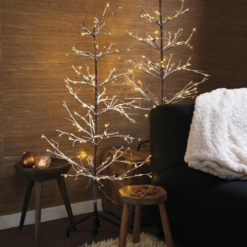 árbol de Navidad luminoso blanco cálido