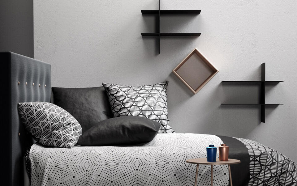 dormitorio estilo japandi