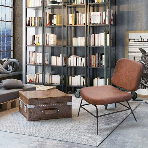 sillón vintage efecto cuero