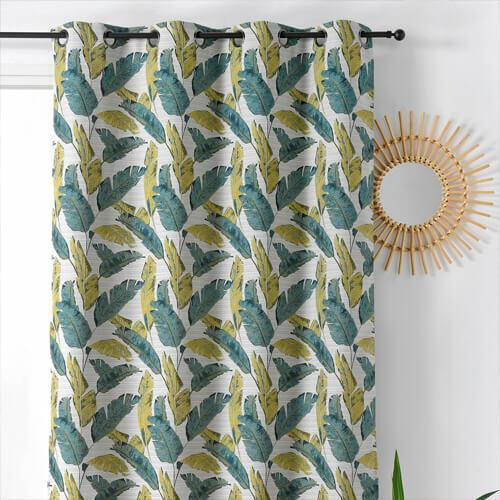 cortina con estampados
