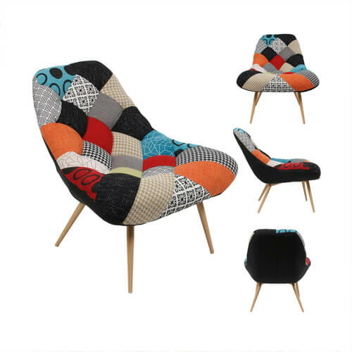 sillón patchwork