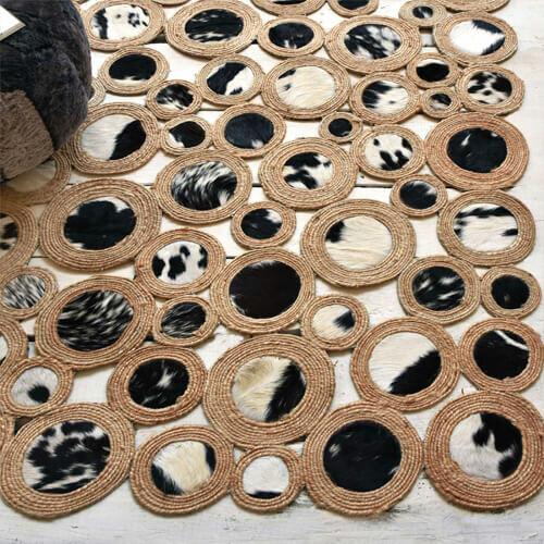 alfombra piel de vaca