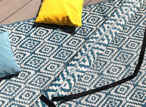 alfombra de exterior con estampados
