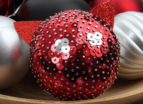 bola de Navidad con lentejuelas