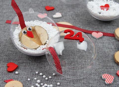 ideas bolas de navidad transparentes para llenar