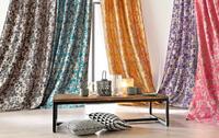 cortinas con colores y flores
